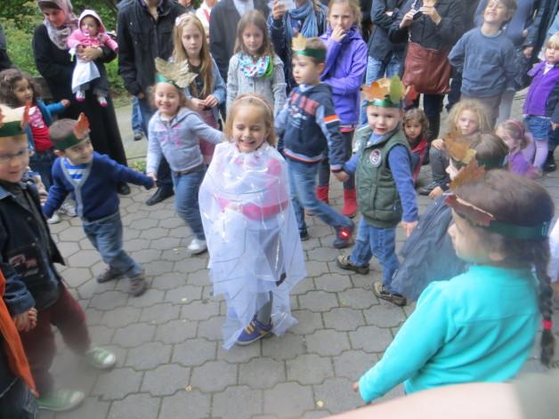 Kindergarten Gartenstrasse beim Erntefest